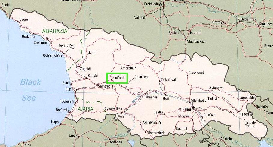 kutaisi georgia map bnhspinecom
